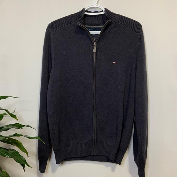 Tommy Hilfiger Zip-Up Knit Sweater